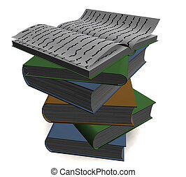 isolated books - three-dimensional isolated books