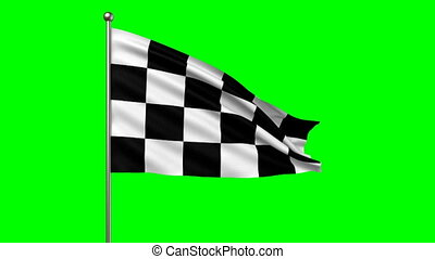 racing flag -  loop-able 3d animation
