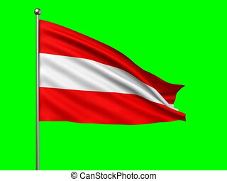 flag of Austria loop-able 3d animation