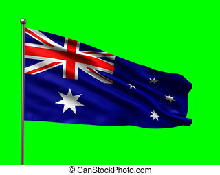flag of Australia loop-able 3d animation