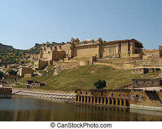 Amber Fort - Amber fort in the outskirts of Jaipur,...