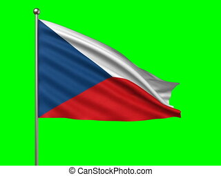 flag of Czech Republic  loop-able 3d animation