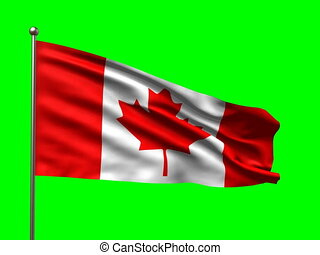 flag of Canada loop-able 3d animation