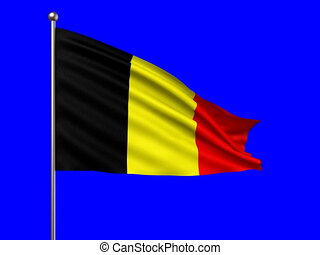 flag of Belgium loop-able 3d animation