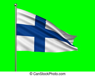 flag of Finland loop-able 3d animation