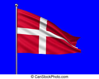 flag of Denmark loop-able 3d animation