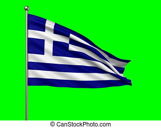 flag of Greece loop-able 3d animation