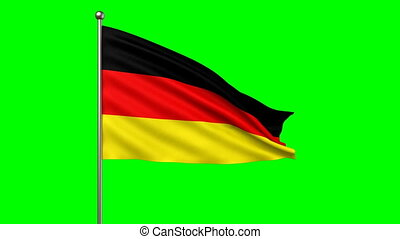 flag of Germany loop-able 3d animation