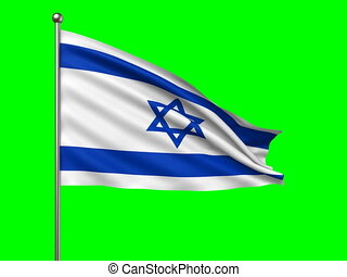 flag of Israel loop-able 3d animation