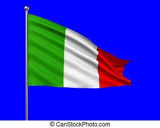 flag of Italy loop-able 3d animation