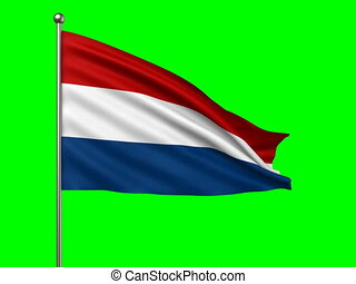 flag of Netherlands loop-able 3d animation