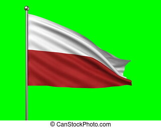 flag of Poland loop-able 3d animation