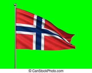 flag of Norway loop-able 3d animation