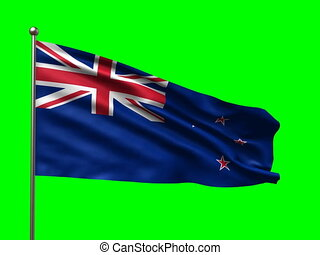 flag of New Zealand loop-able 3d animation