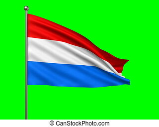 flag of Luxemburg loop-able 3d animation