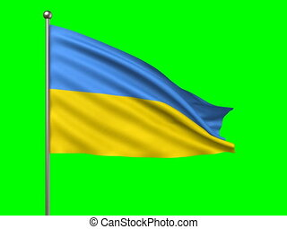 flag of Ukraine loop-able 3d animation