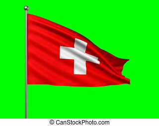 flag of Switzerland loop-able 3d animation