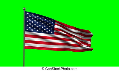 flag of USA loop-able 3d animation