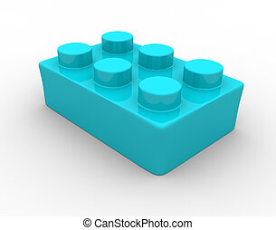 Lego bricks - Plastic toy brick - This is a 3d render...