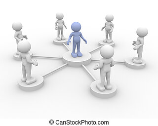 Leadership - 3d person icon leadership and team - This is a...