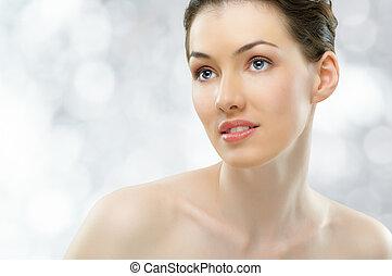 beauty portrait - portrait of a beautiful healthy girl
