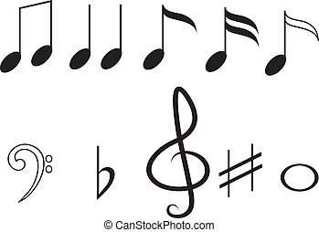 Music notes,set