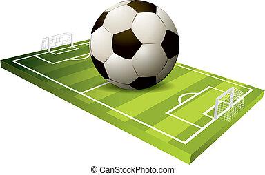 3d Soccer field vector