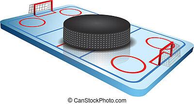 3d Hockey field vector