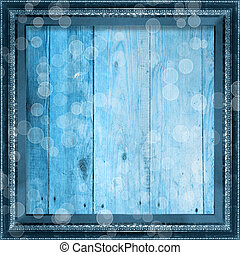 Grunge frame in the Victorian style on the wooden background