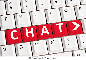 Chat word on keyboard