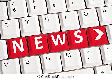 News word on keyboard