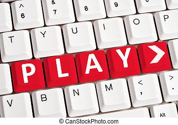 Play word on keyboard