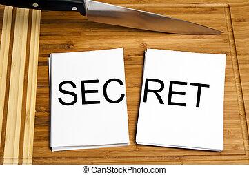 Knife cut paper with secret