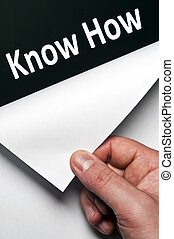 Know how word discovered by male hand