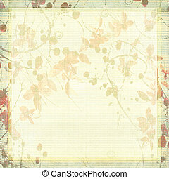 Pale Antique Floral Background with Text Space