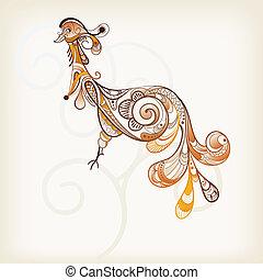 vector abstract peacock