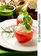 Stuffed Tomatoes with rice