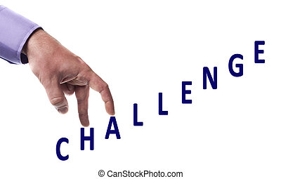 Challenge word - Male fingers climb challenge word