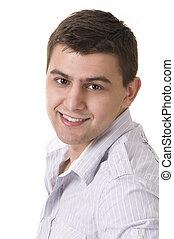 Casual Man Portrait - Smiling - Casual man portrait -...