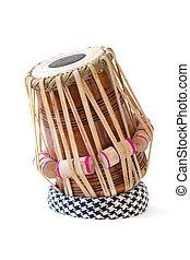 Tabla Drum - tabla indian drum against a white background.