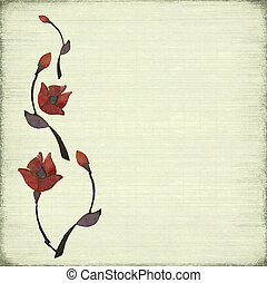 Stone Flower Design Background