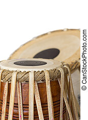 Tabla Drum - tabla indian drum against a white background