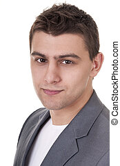 Casual Man Portrait - Smiling - Casual caucasian man...