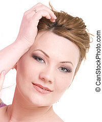 Mature woman beauty - Portrait of attractive beauty mature...