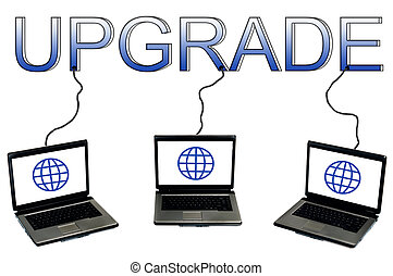 Upgrade word connected to laptops