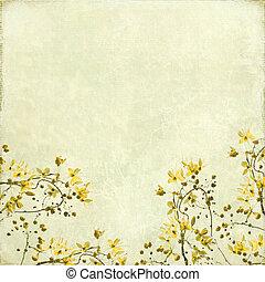 Tangled Blossom Border Background