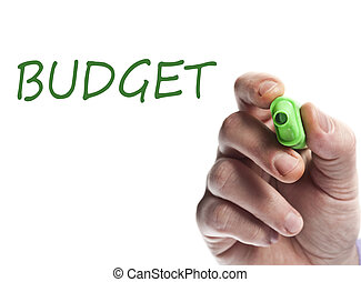 Budget - Hand write with green marker Budget