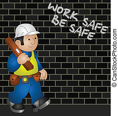 health and safety - Cartoon builder with health and safety...