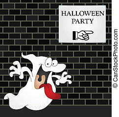 Halloween Party - Ghost on his way to a Halloween Party