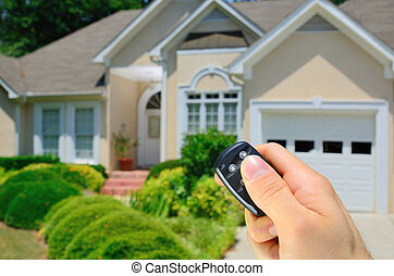 Remote Controlled House - Remote control lock to a home.